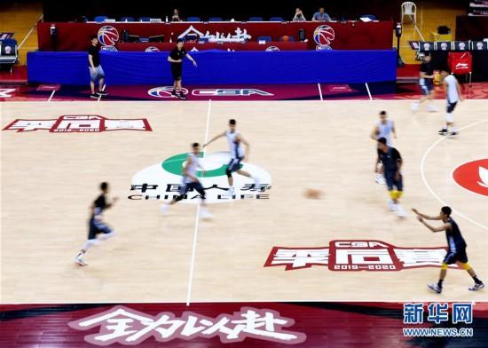 (體育)(8)籃球——CBA聯賽季后賽:浙江廣廈控股隊備戰