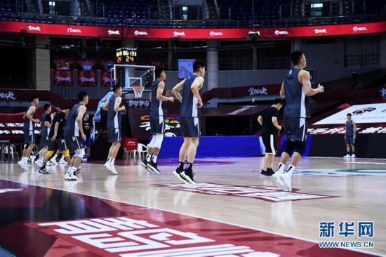 (體育)(7)籃球——CBA聯賽季后賽:浙江廣廈控股隊備戰