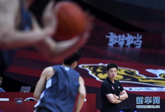 (體育)(3)籃球——CBA聯賽季后賽:浙江廣廈控股隊備戰