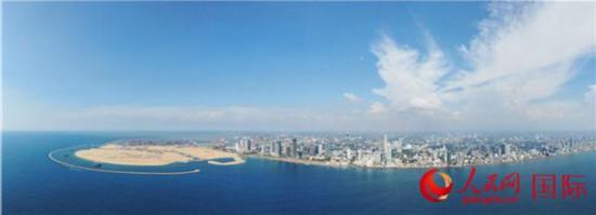图为斯里兰卡科伦坡港口城项目全貌
