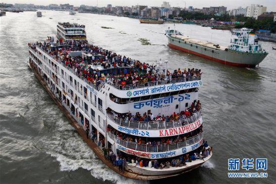 (国际)(1)孟加拉国宰牲节期间迎来返乡潮