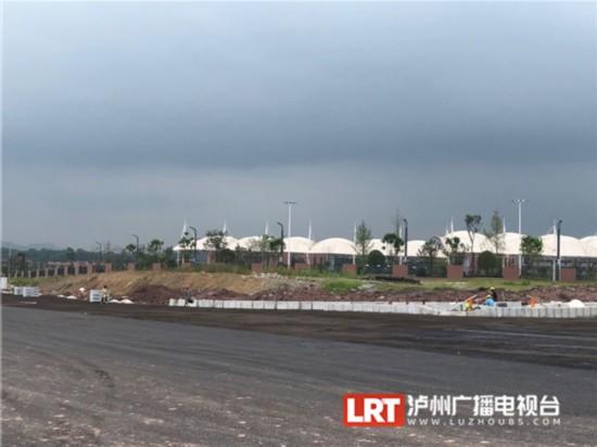 泸州医疗器械职业学院周边道路功能性通车位于纳溪