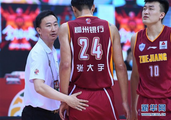 (体育)(16)篮球――CBA联赛季后赛:辽宁本钢对阵浙江稠州银行