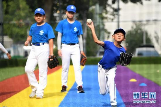 (体育)(1)全民健身――夏日里的棒球少年