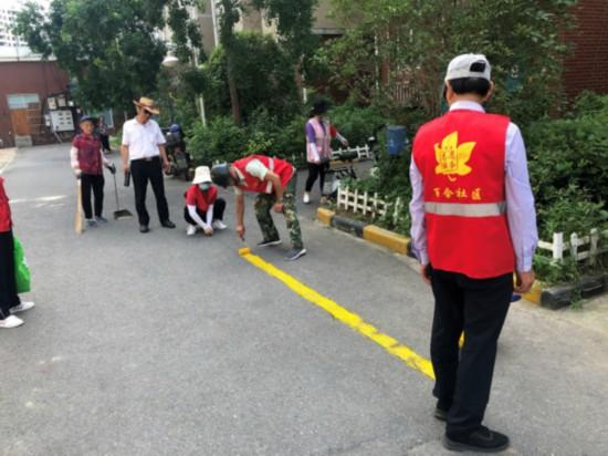 浦口乔林街道党员文明宣传行动。桥林街道供图