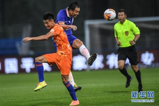 (体育)(8)足球――中超:上海绿地申花胜山东鲁能泰山