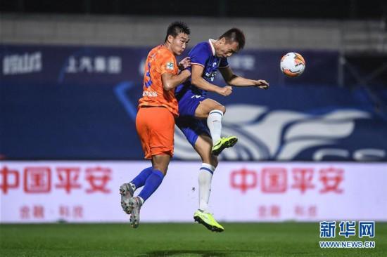(体育)(9)足球――中超:上海绿地申花胜山东鲁能泰山