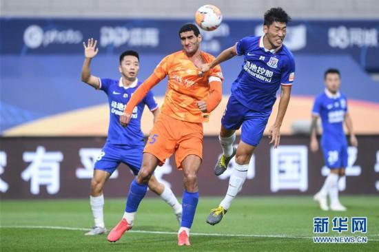 (体育)(5)足球――中超:上海绿地申花胜山东鲁能泰山