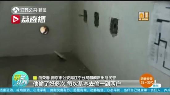 """疯狂!男子""""高危""""作案 盗窃800余套房屋电线"""