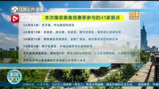 """南京旅游景點門票不要丟 憑票323家餐飲店享受打折:""""光盤""""行動不能忘"""