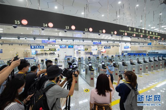 (社会)(4)粤澳宣布开通横琴口岸新旅检区域