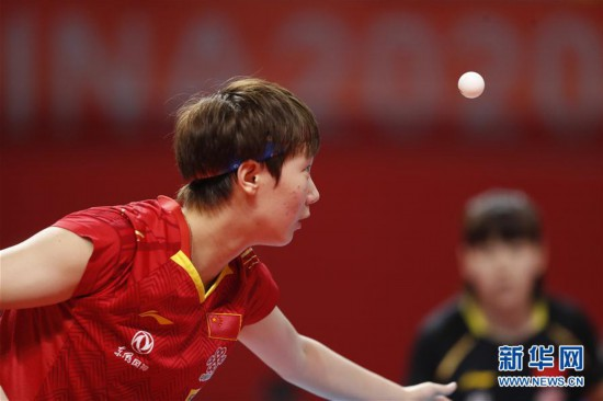 (体育)(3)乒乓球――奥运模拟赛:女子一团获女团冠军