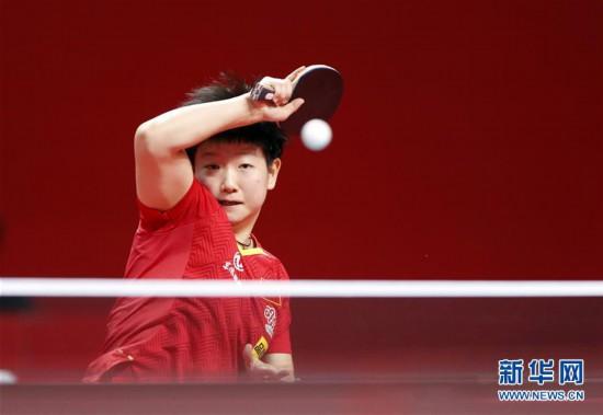(体育)(1)乒乓球――奥运模拟赛:女子一团获女团冠军