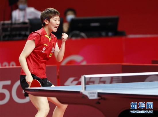 (体育)(7)乒乓球――奥运模拟赛:女子一团获女团冠军