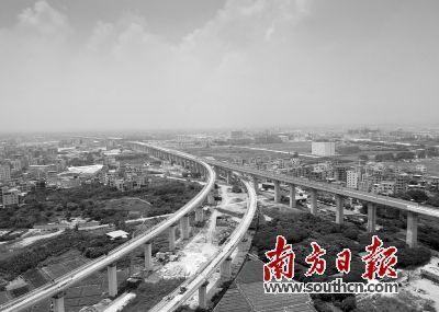珠三角城际广佛东环线全线桥梁主体工程完工