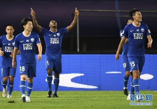 (体育)(1)足球――中超:石家庄永昌平北京中赫国安