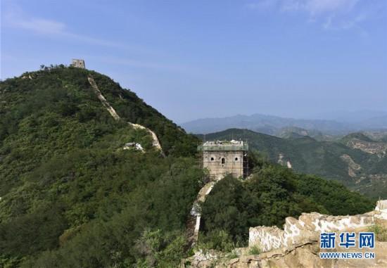 (社会)(1)河北遵化:大石峪长城抢险加固保护工程施工正酣