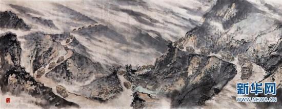 (图文互动)国画长卷《血肉滇缅路》在云南展出
