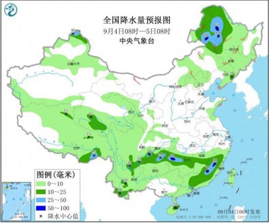 黑龙江内蒙古等地仍有较强风雨西南地区东部等多降雨