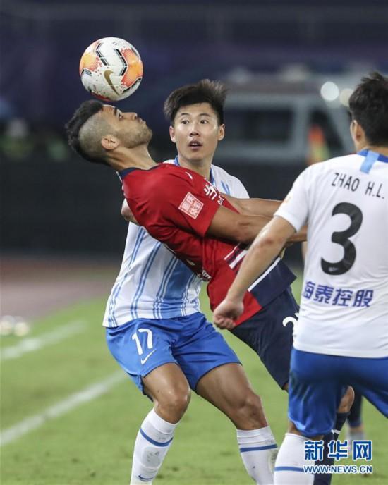 (體育)(2)足球——中超:重慶當代勝天津泰達