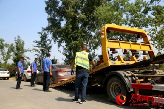 南京溧水专项清理整治机动车占绿、毁绿行为
