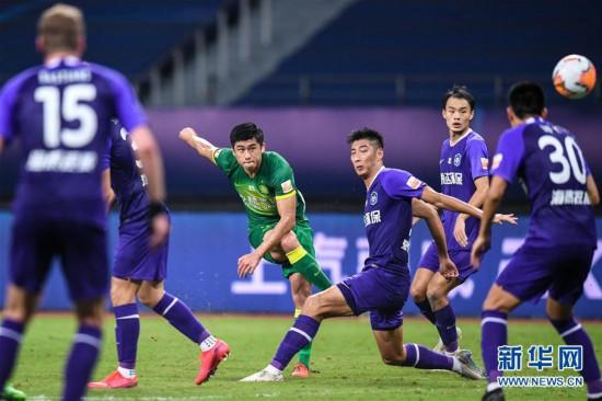 (体育)(2)足球――中超:北京中赫国安胜天津泰达