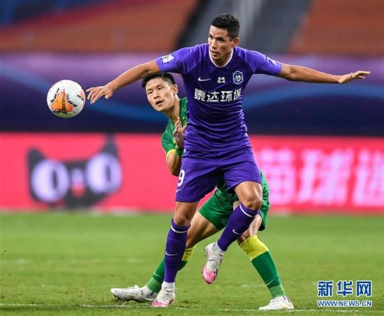 (体育)(15)足球――中超:北京中赫国安胜天津泰达
