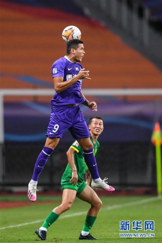 (体育)(16)足球――中超:北京中赫国安胜天津泰达