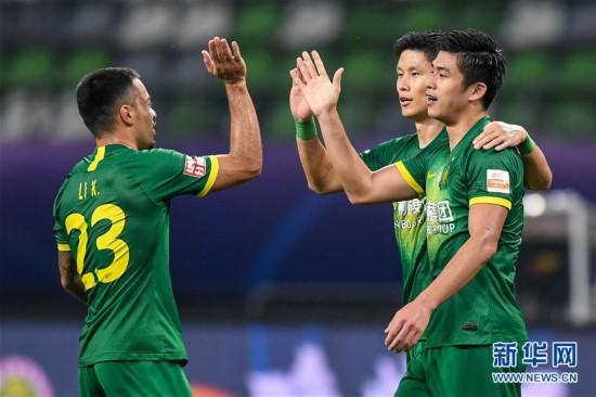 (体育)(1)足球――中超:北京中赫国安胜天津泰达