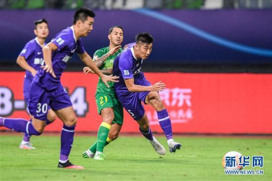 (体育)(18)足球――中超:北京中赫国安胜天津泰达