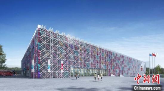 五棵松冰上运动中心效果图。 北京市重大办供图 摄