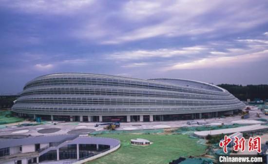 国家速滑馆外观图。 北京市重大办供图 摄