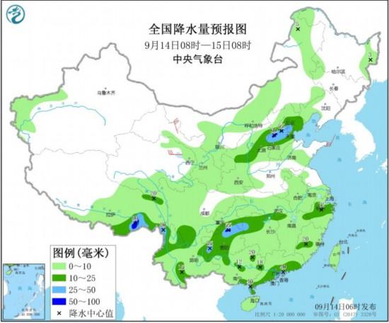 中央气象台:我国中东部将有大范围降雨过程