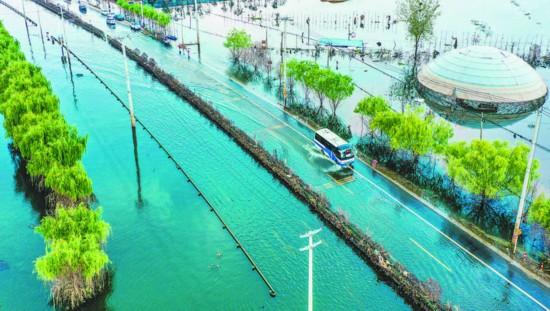 國道G330水淹路段半幅恢復通行