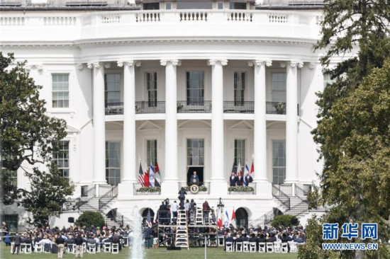 (国际)(1)以色列与阿联酋和巴林在白宫签署关系正常化协议