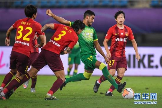 (体育)(9)足球――中超:河北华夏幸福平北京中赫国安