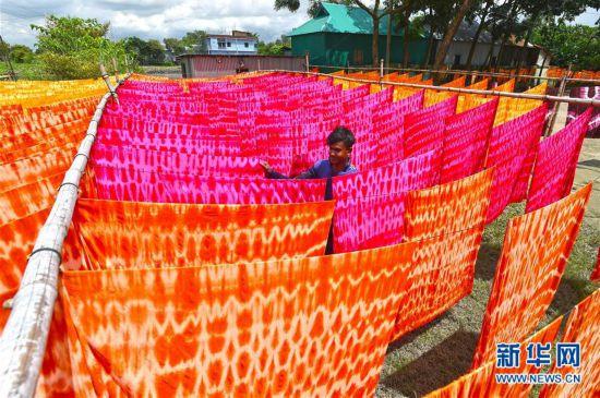 孟加拉国:手工布匹印染作坊