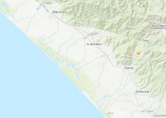 墨西哥南部地区发生5.2级地震震源深度91.3公里