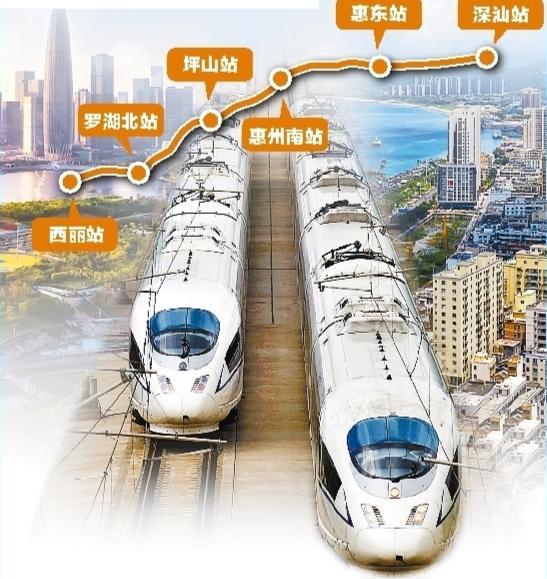 深汕高铁全线设6个车站 最小行车间隔3分钟