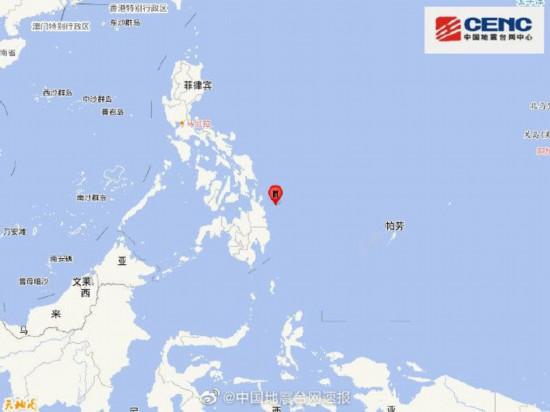 菲律宾棉兰老岛附近海域发生5.5级地震震源深度50千米