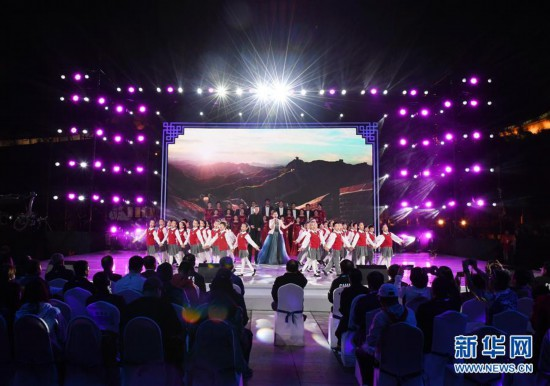 (體育)(5)北京冬奧會倒計時500天長城文化活動在八達嶺長城舉行