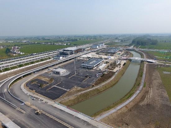 寶應站客運樞紐主體落成 揚州將實現火車全覆蓋