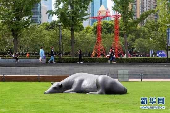 (新华视界)(1)2020中国・上海静安国际雕塑展开幕