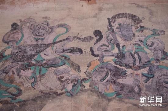 """(文化)(6)""""草原敦煌""""阿尔寨石窟已修复10座有壁画洞窟"""