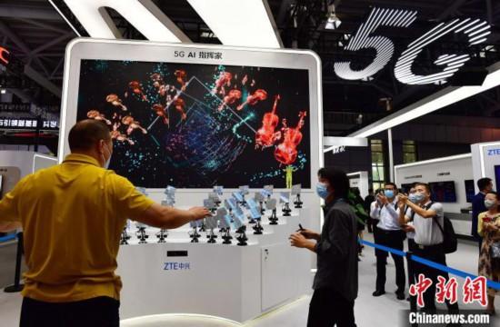 """第三届数字中国建设成果展览会:各种""""数字科技""""吸引民众前来参观"""