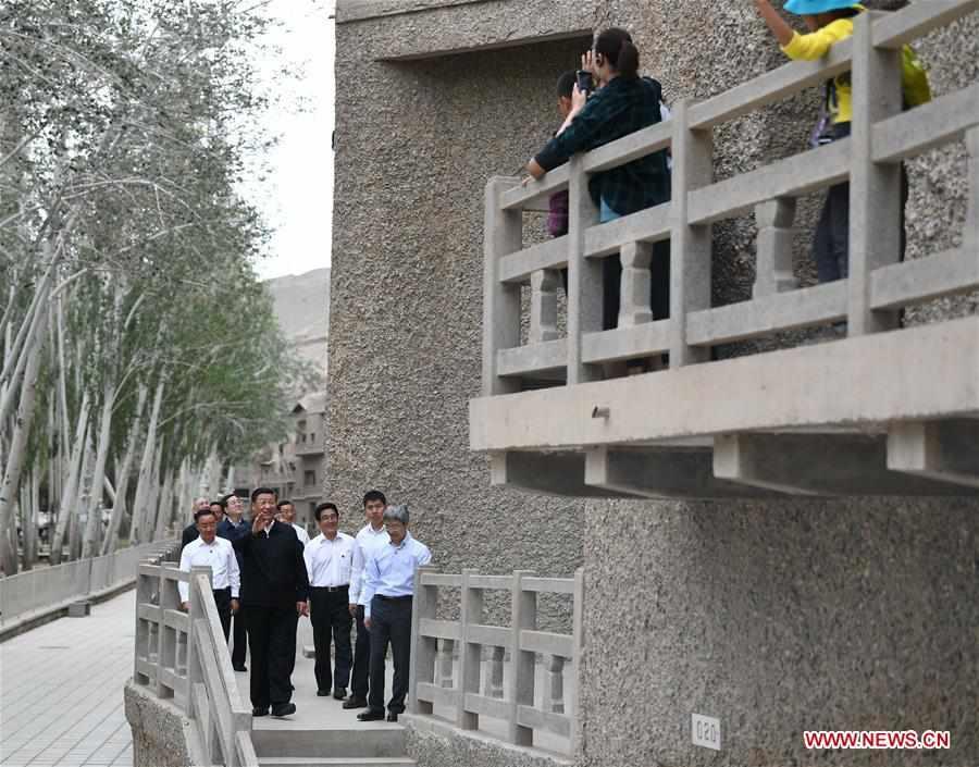 CHINA-GANSU-XI JINPING-INSPECTION (CN)
