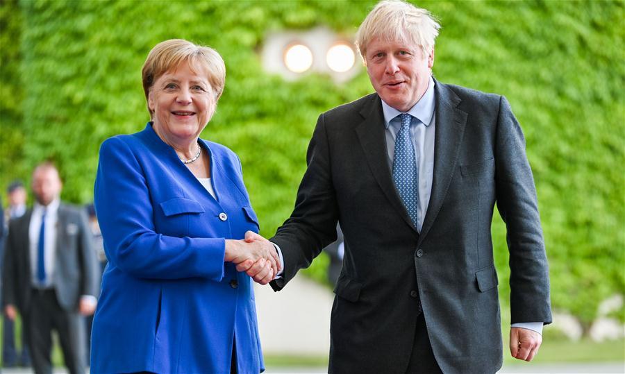 GERMANY-BERLIN-BRITAIN-BORIS JOHNSON-VISIT