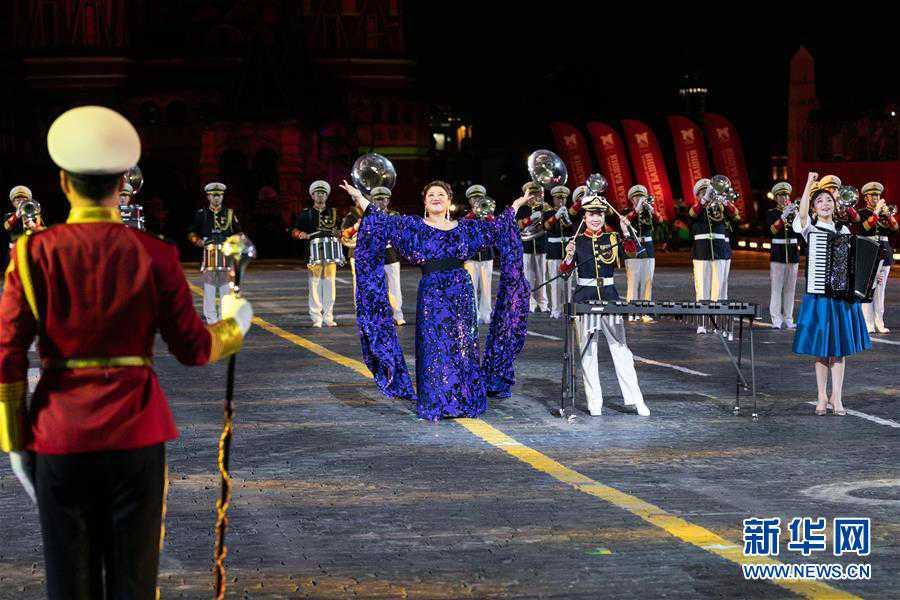 (国际)(1)中国人民解放军军乐团参加俄国际军乐节