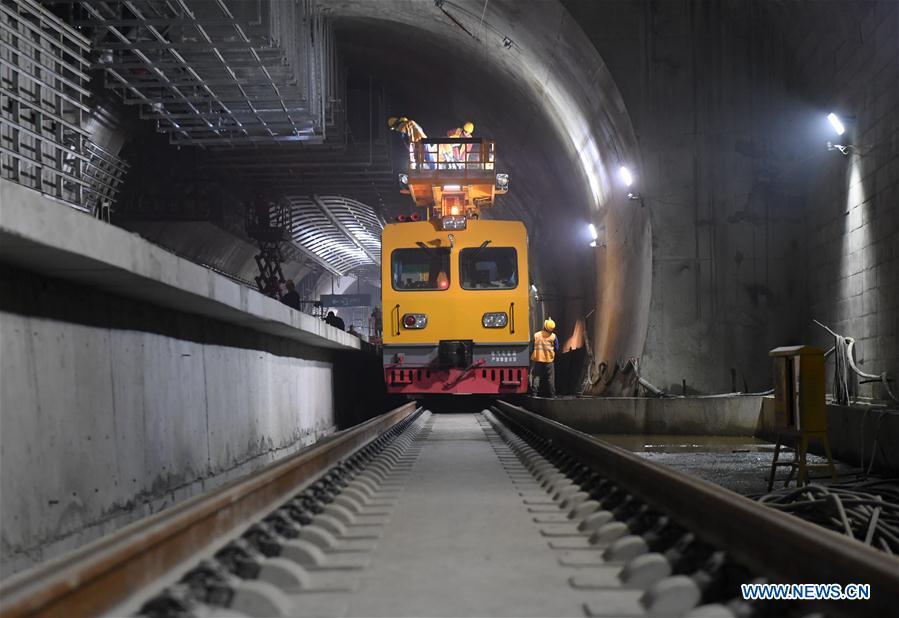 CHINA-BEIJING-ZHANGJIAKOU HIGH-SPEED RAILWAY-CONSTRUCTION (CN)