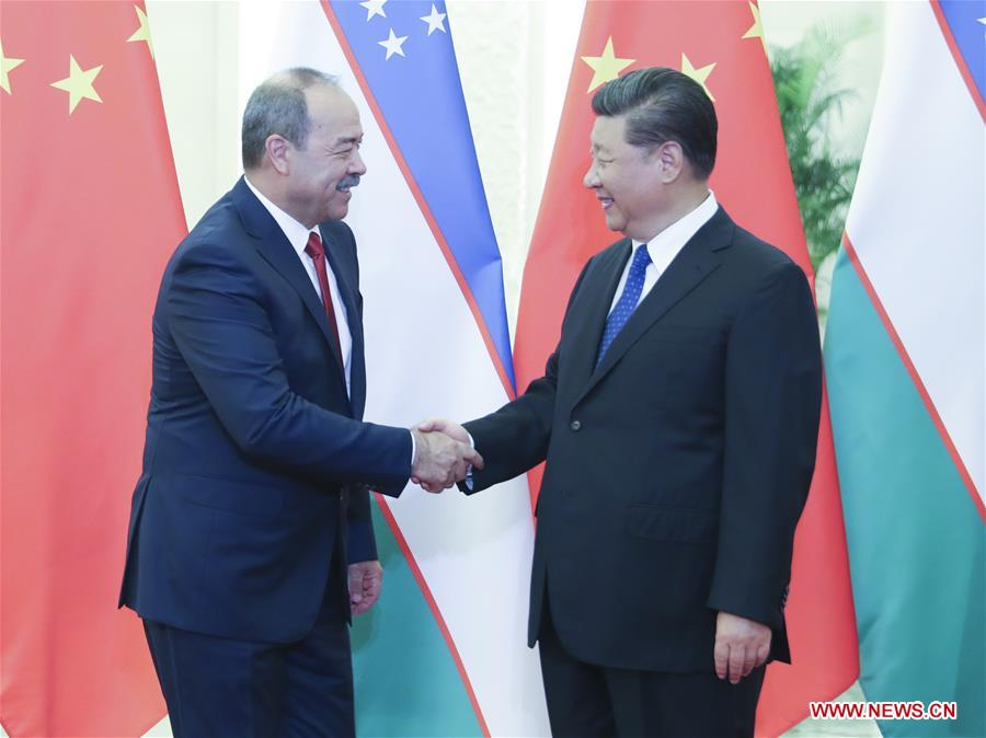 CHINA-BEIJING-XI JINPING-UZBEK PM-MEETING (CN)